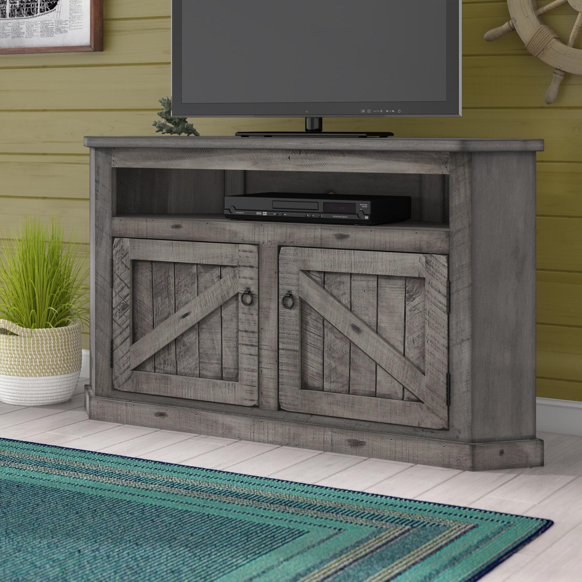 Longshore Tides Benji Solid Wood Corner TV Stand for TVs up to 65