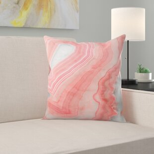 Painted Agate Throw Pillow