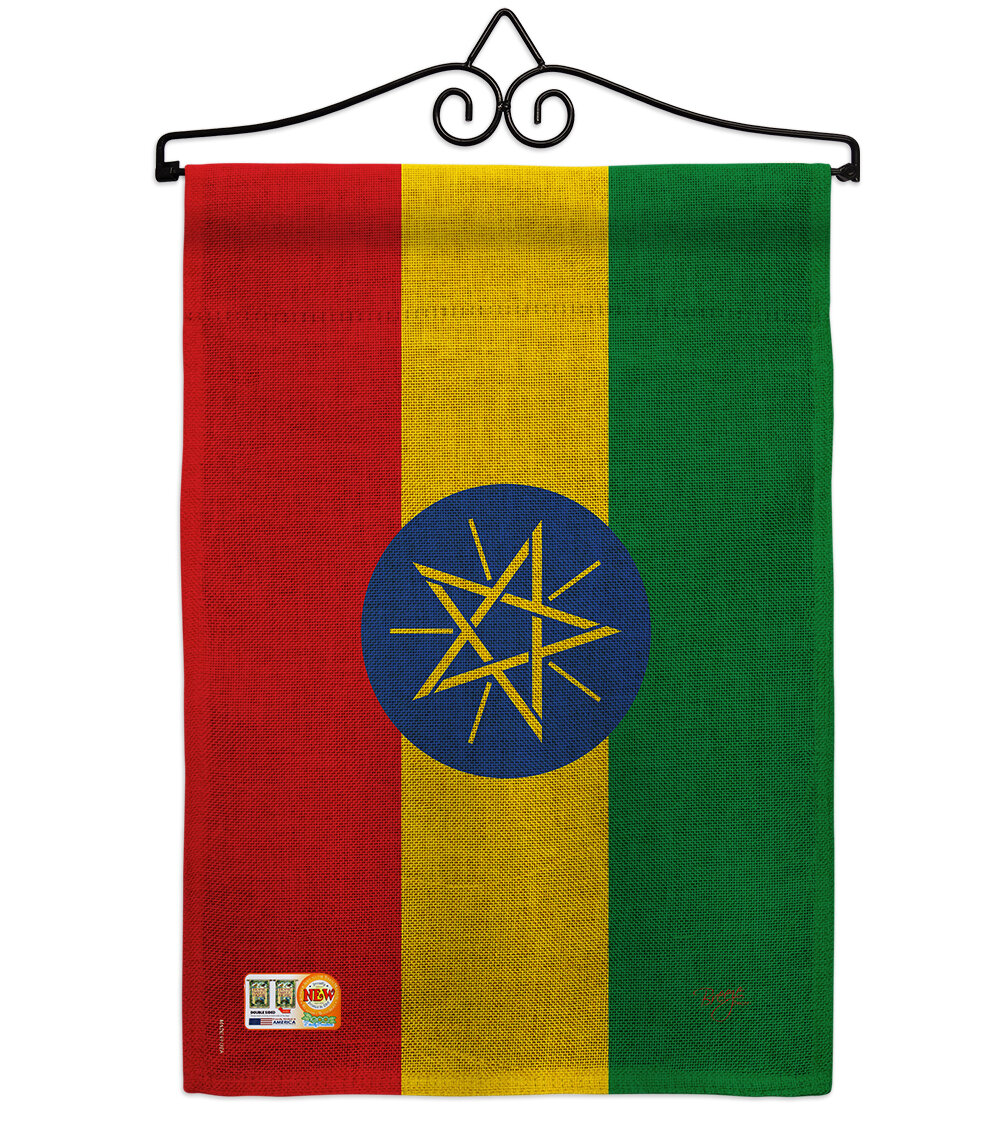 Breeze Decor Ethiopia Of The World 2 Sided Burlap 19 X 13 In Garden Flag Wayfair