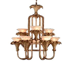 JB Hirsch Home Decor 10-Light Shaded Chandelier
