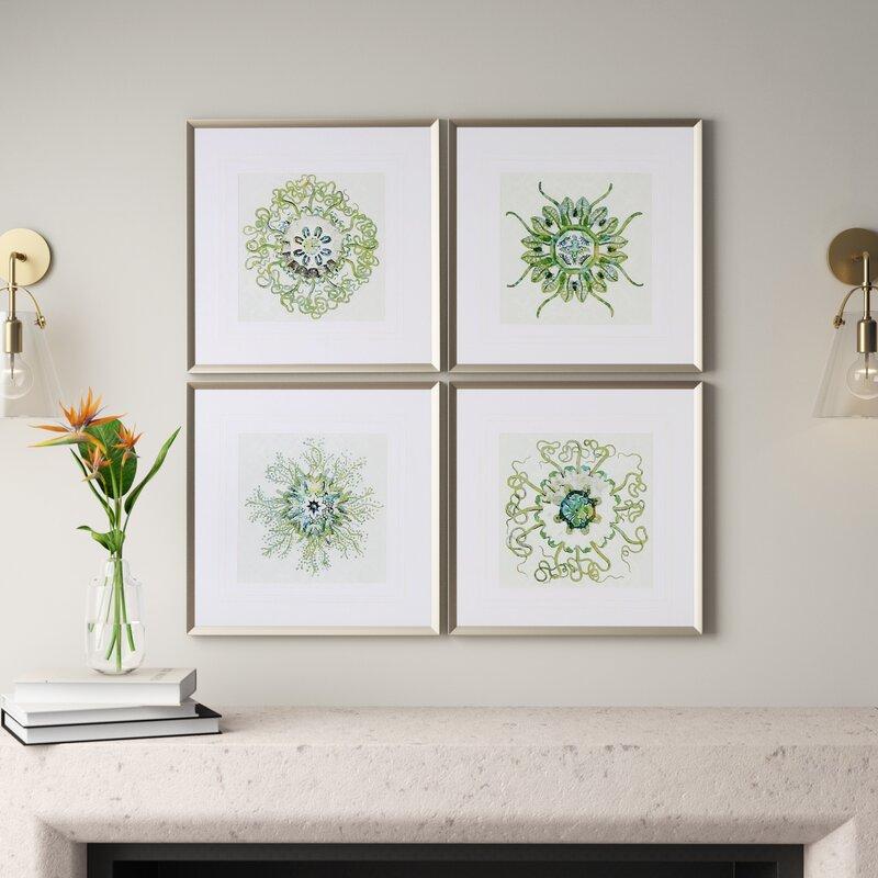 Organic Symbols 4 Piece Picture Frame Graphic Art Set On Canvas Reviews Joss Main