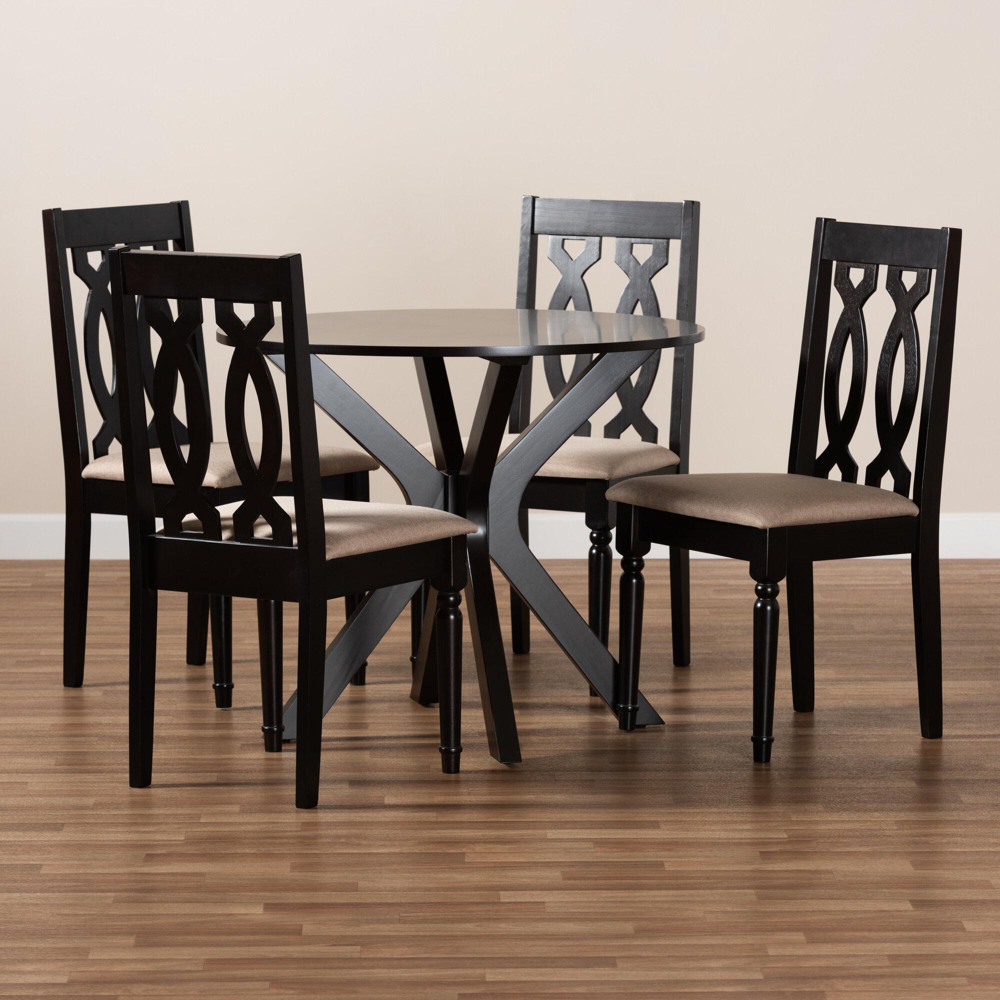Alcott Hill Sandiford 5 Piece Solid Oak Dining Set Wayfair