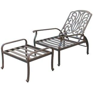 Lebanon Deep Seating Club Chair and Ottoman Set Frame