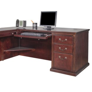 Myrna L-Shape Computer Desk with Hutch