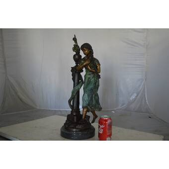 Nifao Jack Russel Terrier Dog Bronze Statue Size 25 L X 11 W X 26 H Wayfair