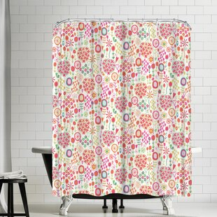 Frankie Van Mourik Doodle Flowers Single Shower Curtain