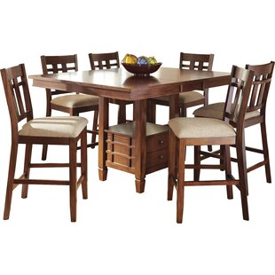 Hannon 7 Piece Counter Height Dining Set by DarHome Co No Copount