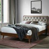 Campion Queen Tufted Low Profile Platform Bed by Corrigan Studio®