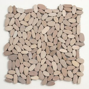 Decorative Pebbles Random Sized Natural Stone Pebble Tile in Madura Sands