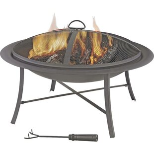 Mintcraft Steel Wood Burning Fire Pit