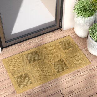 Reviews Short Natural / Olive Outdoor Transitional Area Rug by Winston Porter