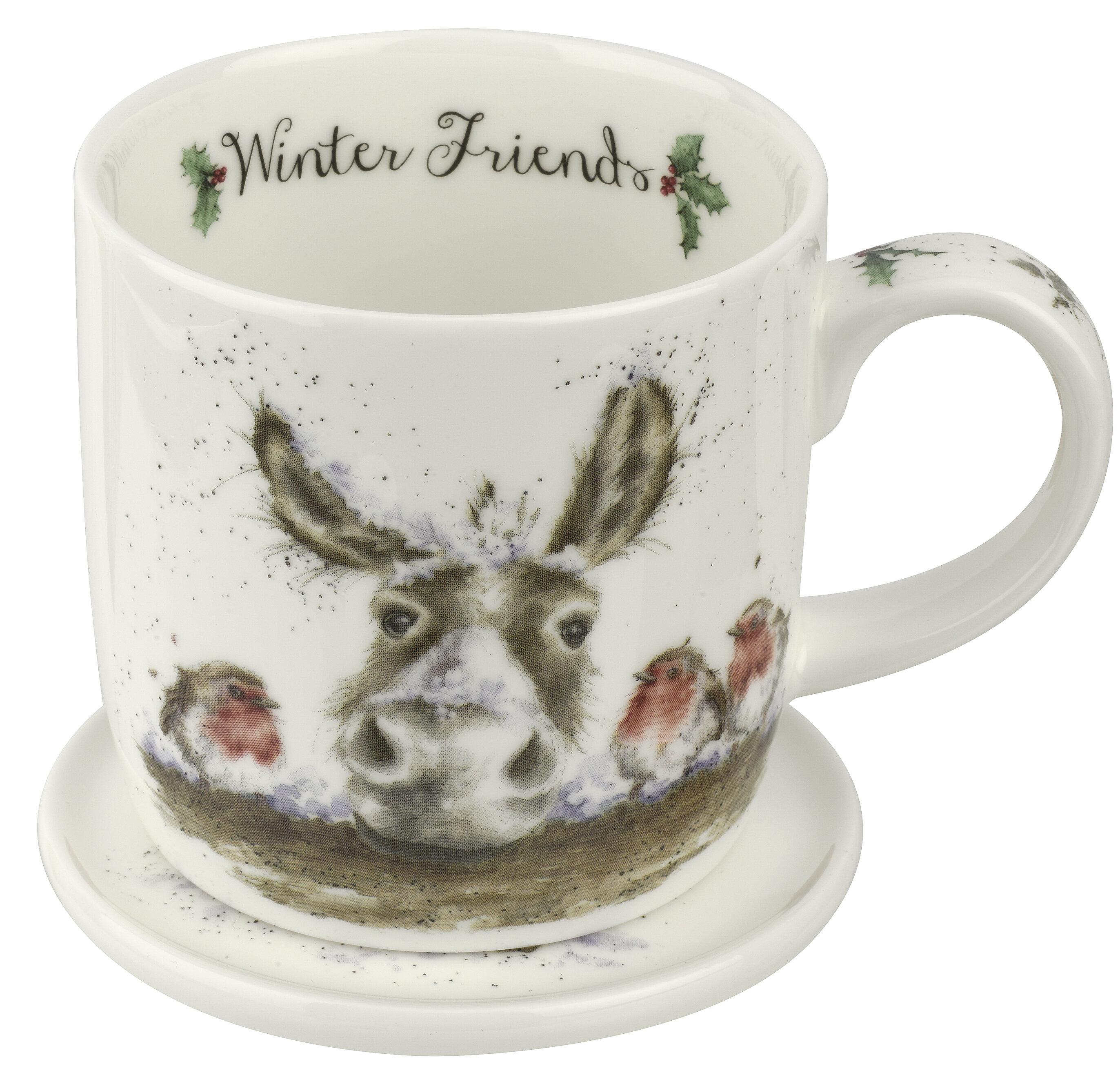 Wrendale Winter Friends Mug Saucer