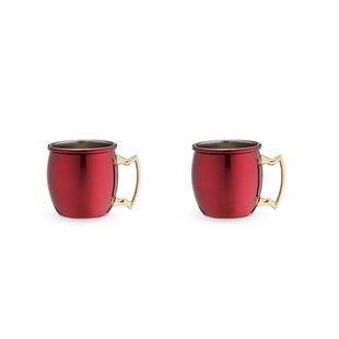 2 oz. Stainless Steel Moscow Shot Mug (Set of 2)