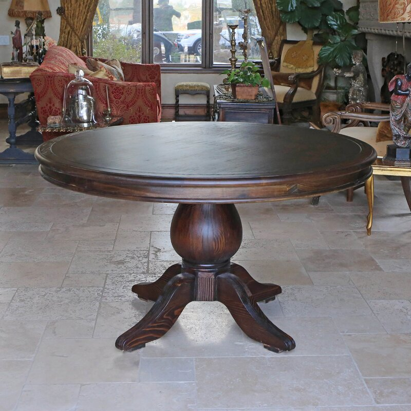 One Allium Way Lacour Reclaimed Wood Round Dining Table & Reviews ...
