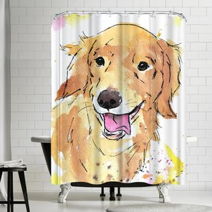 Allison Izzie the Golden Retriever Shower Curtain