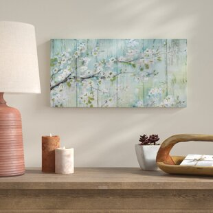U0027Barnwood Cherry Blossomsu0027 Print On Wrapped Canvas