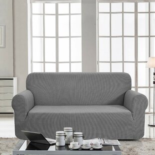Affordable Price Box Cushion Sofa Slipcover by Latitude Run Reviews (2019) & Buyer's Guide