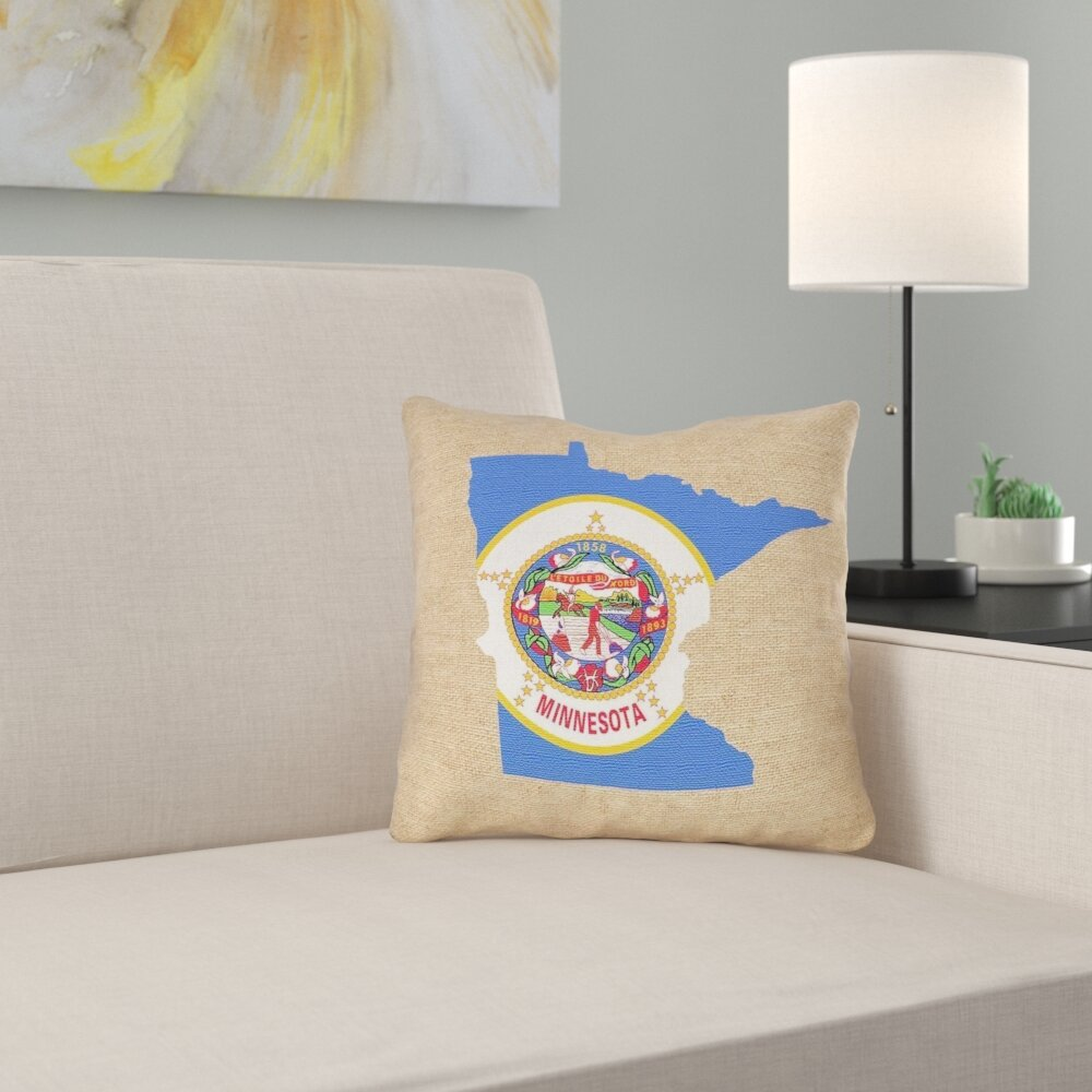 East Urban Home Center Drive Minnesota State Flag Pillow In Cotton Twill Double Sided Print Pillow Cover Wayfair