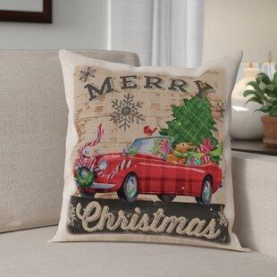 Christmas Plaid Car Pillow Cover