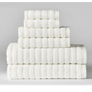Novack Texture 6 Piece 100% Cotton Towel Set
