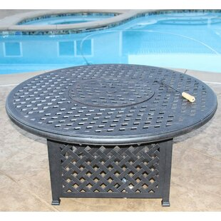 Darby Home Co Nola Aluminum Propane Fire Pit Table