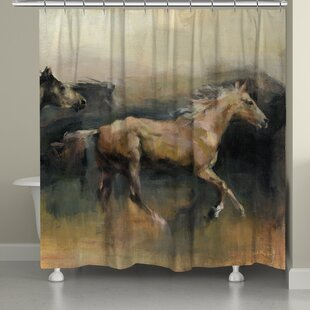 Ebern Designs Castellon Roaming the West Shower Curtain