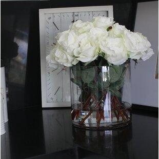 Cylinder Roses Floral Arrangement in Pot