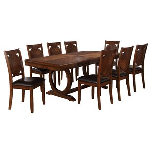Reyes Classic Extendable Solid Wood Dining Table World Menagerie