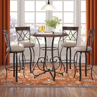 Villeda 5 Piece Pub Table Set