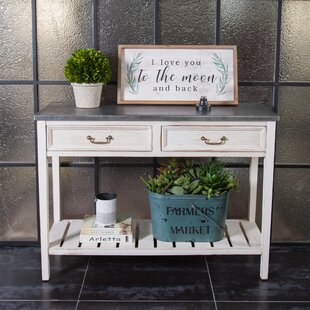 Nilda Vintage Wood and Metal Console Table by Gracie Oaks
