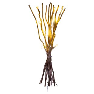 12 Gold LED Willow Lighted Branch Image