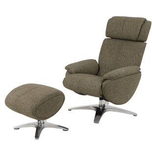 Knollview Manual Swivel Recliner with Ottoman (Set of 2)
