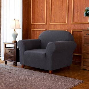 1-Piece Jacquard High Stretch Box Cushion Armchair Slipcover by Winston Porter