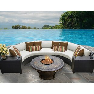 TK Classics Barbados 6 Piece Sectional Set with Cushions