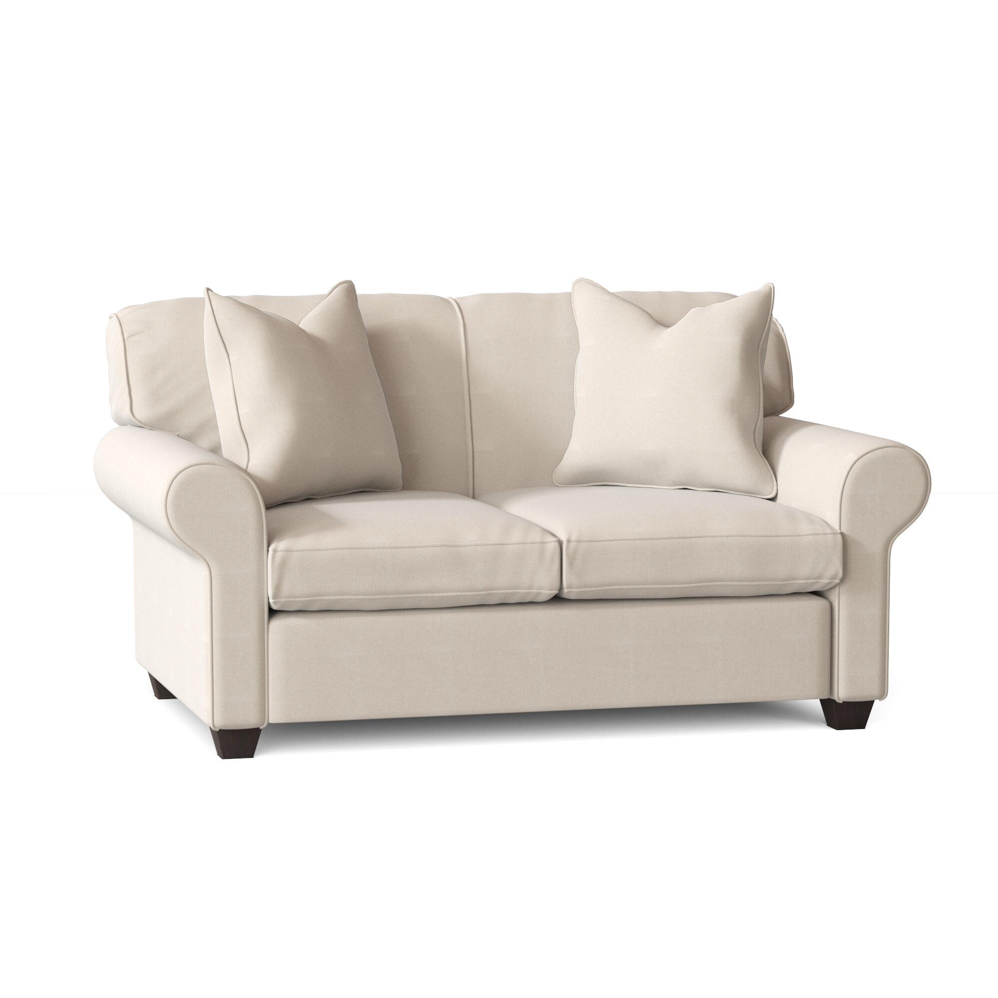 Wayfair Custom Upholstery Jennifer 59 Rolled Arm Loveseat Reviews Wayfair
