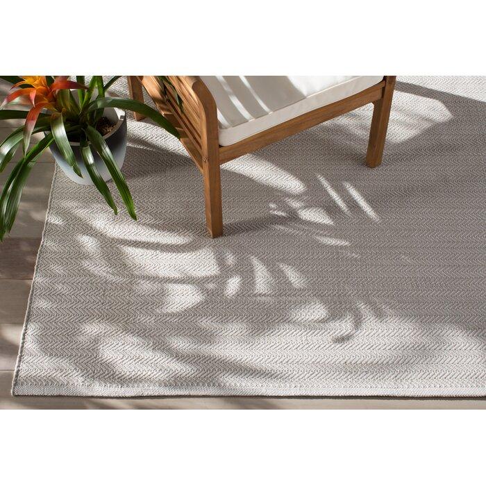 C3 Herringbone Pearl Grey Indoor Outdoor Area Rug