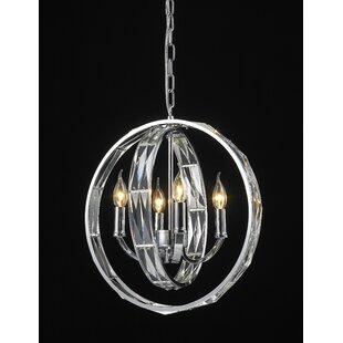 Mercer41 Brownesville 4-Light Globe Chandelier