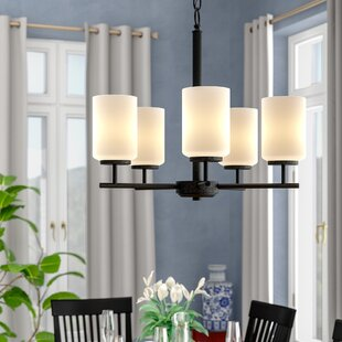 Darby Home Co Gaskell 5-Light Shaded Chandelier