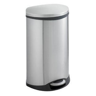 Safco Products Company Ellipse Receptacle 12.5 Gallon Step On Trash Can