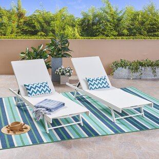Emrich Outdoor Double Reclining Chaise Lounge (Set of 2)