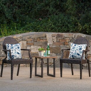 Bay Isle Home Longcroft 3 Piece Outdoor Bistro Set
