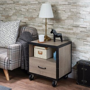 Borowski Stylish 1 Drawer Nightstand