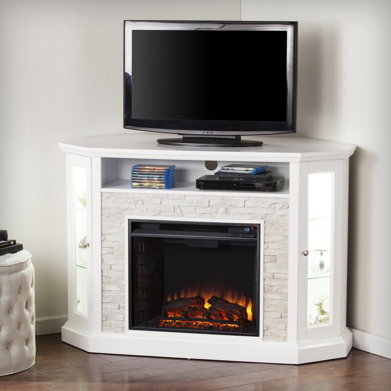 Kitsco Boyer Tv Stand For Tvs Up To 58 With Electric Fireplace
