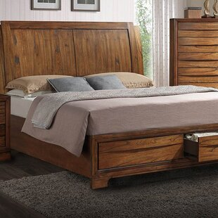 Russet King Storage Sleigh Bed