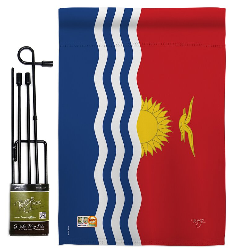 Breeze Decor Kiribati 2 Sided Polyester 18 5 X 13 In Flag Set Wayfair