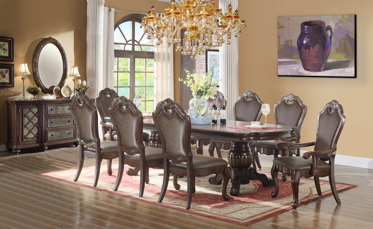 ultimate accents 9 piece dining set u0026 reviews wayfair