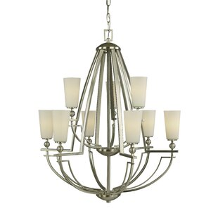 Woodbridge Lighting Aurora 9-Light Shaded Chandelier