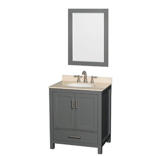 Sheffield 30 Single Bathroom Vanity Set with Mirror by Wyndham Collection