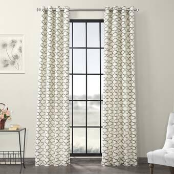 Charlton Home Waseca 100 Cotton Solid Room Darkening Grommet Single Curtain Panel Reviews Wayfair