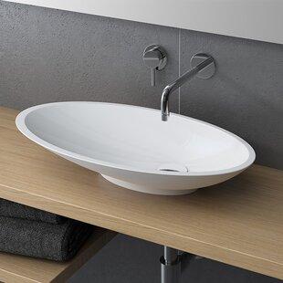 Best Caccini Polymarble Oval Vessel Bathroom Sink By Calma